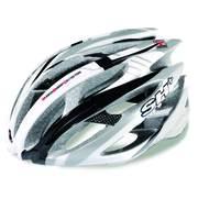 Casca bicicleta SH+ ZEUSS, argintiu/alb