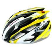 Casca bicicleta SH+ ZEUSS, galben/alb